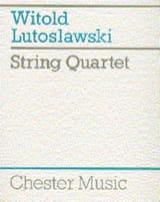 Witold Lutoslawski - String Quartet – Score - Partition - di-arezzo.fr