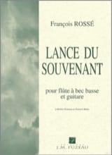 Lance du souvenant François Rossé Partition Duos - laflutedepan