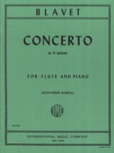 Concerto in A minor - Flute piano Michel Blavet Partition laflutedepan