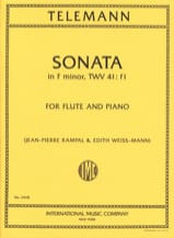 Sonata in F minor - Flute piano TELEMANN Partition laflutedepan.com