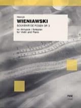 Henryk Wieniawski - Souvenir de Posen op. 3 - Partition - di-arezzo.fr