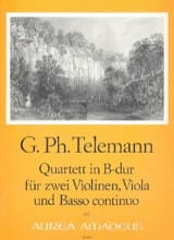 Georg Philipp Telemann - Quartett in B Dur – Stimmen - Partition - di-arezzo.fr