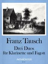 3 Duos - Klarinette Fagott Franz Tausch Partition laflutedepan.com
