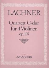 Quartett G-Dur für 4 Violinen, op. 107 -Stimmen laflutedepan.com