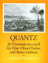 Johann Joachim Quantz - Triosonate Nr. 26 e-moll - Sheet Music - di-arezzo.co.uk