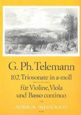Georg Philipp Telemann - Triosonate Nr. 102 in a-moll – Violine Viola Bc - Partition - di-arezzo.fr