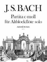 Partita C-Moll BWV 1013 - Altblockflöte Solo BACH laflutedepan.com