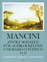 Francesco Mancini - 12 Sonaten - Nr. 10-12 – Altblockflöte u. Bc - Partition - di-arezzo.fr