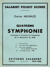Symphonie n° 4 - Conducteur Darius Milhaud Partition laflutedepan.com
