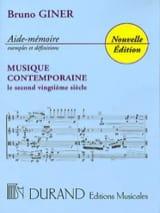 Bruno Giner - Aide-Mémoire Musique Contemporaine - Livre - di-arezzo.fr