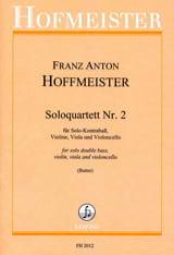 Franz Anton Hoffmeister - Soloquartett Nr. 2 –Partitur + Stimmen - Partition - di-arezzo.fr