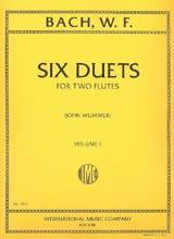 Wilhelm Friedemann Bach - 6 Duets - Volume 1 - 2 Flutes - Sheet Music - di-arezzo.co.uk