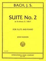 BACH - Suite No. 2 in B minor BWV 1067 - Piano flute - Sheet Music - di-arezzo.co.uk