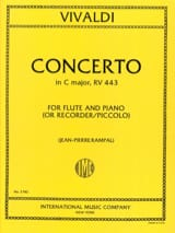 Concerto in C Major RV 443 F. 6 n° 4 - Flûte piano laflutedepan.com