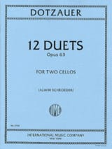 12 Duets op. 63 Friedrich Dotzauer Partition laflutedepan.com
