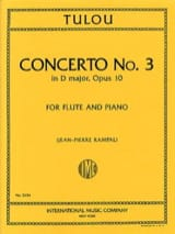 Jean-Louis Tulou - Concerto No. 3 in D major op. 10 - Flute piano - Sheet Music - di-arezzo.co.uk