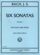 6 Sonatas - Volume 1 - Flûte piano BACH Partition laflutedepan.com