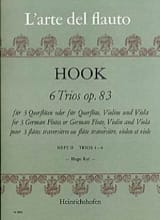 6 Trios op. 83 Heft 2 - 3 Flöten James Hook Partition laflutedepan