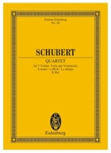 Quatuor en la Mineur Op. 29 D. 804 Franz Schubert laflutedepan.com