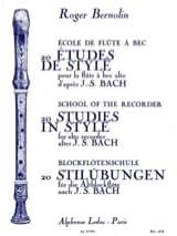 20 Etudes de style BACH Partition Flûte à bec - laflutedepan.com