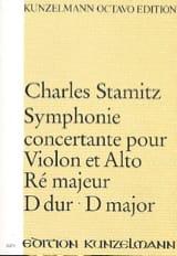 Symphonie concertante ré maj. - Partitur Carl Stamitz laflutedepan.com
