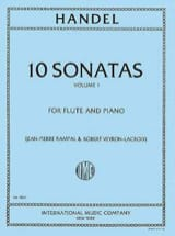 Georg Friedrich Haendel - 10 Sonatas - Volume 1 – Flute piano - Partition - di-arezzo.fr