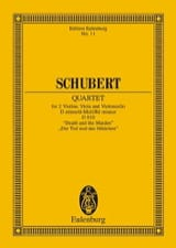 SCHUBERT - Streichquartett D-Moll, Op. Posth. D 810 - Driver - Sheet Music - di-arezzo.co.uk