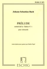 Johann Sebastian Bach - Prélude – Guitare - Partition - di-arezzo.fr