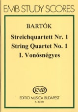BARTOK - String Quartet No. 1 - Score - Sheet Music - di-arezzo.co.uk