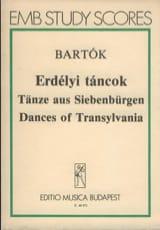 Tänze aus Siebenbürgen - Partitur BARTOK Partition laflutedepan.com