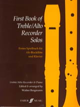 First book of treble recorder solos Walter Bergmann laflutedepan