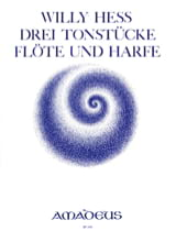 3 Tonstücke – Flöte Harfe - Willy Hess - Partition - laflutedepan.com