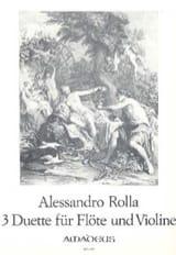 3 Duette - Flöte und Violine Alessandro Rolla laflutedepan.com