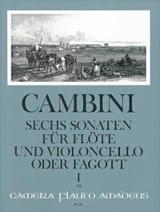 Giuseppe Maria Cambini - 6 Sonates Volume 1 - Partition - di-arezzo.fr