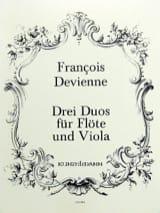 François Devienne - 3 Duos, Opus 5 - Flûte et Alto - Partition - di-arezzo.fr
