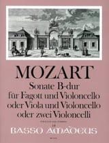 Sonate en Sib Majeur Kv 292 MOZART Partition Duos - laflutedepan.com
