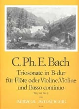 Triosonate B-Dur (Wq 161) –Flöte Violine Bc laflutedepan.com