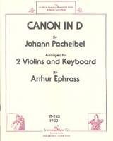 Canon in D - 2 Violins piano Johann Pachelbel laflutedepan.com