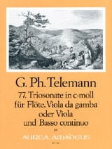 TELEMANN - Triosonate Nr. 77 c-moll - Flöte Viola da gamba u. Bc - Partition - di-arezzo.fr