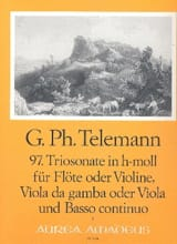 TELEMANN - Triosonate Nr. 97 h-moll -Flöte Violine Viola da gamba Viola u. Bc - Partition - di-arezzo.fr