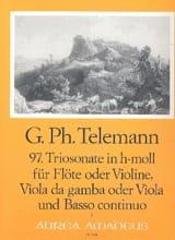 Triosonate Nr. 97 h-moll -Flöte Violine Viola da gamba Viola u. Bc laflutedepan.com
