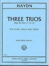 HAYDN - 3 Trios Hob. 15 n ° 15, 16, 17 - Flute, cello and piano - Sheet Music - di-arezzo.co.uk