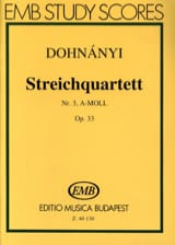 DOHNÁNYI - String Quartet N ° 3 Opus 33 in the Minor - Sheet Music - di-arezzo.co.uk
