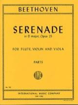 Ludwig van Beethoven - Serenade op. 25 D major –Flute violin viola - Parts - Partition - di-arezzo.fr