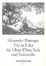 Franz Alexander Pössinger - Trio in F-Dur –Oboe (Flöte) Viola Violoncello - Partition - di-arezzo.fr