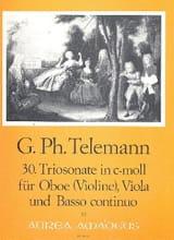 Georg Philipp Telemann - Triosonate Nr. 30 in c-moll -Oboe Viola Bc - Partition - di-arezzo.fr