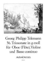 Triosonate Nr. 56 in g-moll - Oboe Violine Bc laflutedepan.com