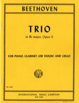 Ludwig van Beethoven - Trio in B-flat major op. 11 – Clarinet (violin) cello piano - Partition - di-arezzo.fr