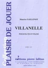 Maurice Faillenot - Villanelle - Sheet Music - di-arezzo.co.uk