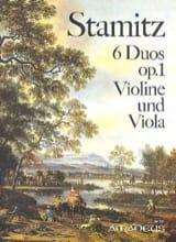 Carl Stamitz - 6 Duos op. 1 – Violine und Viola - Partition - di-arezzo.fr